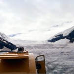 Athabasca glacier by snowmobile