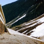 Avalanche snow shed on highway