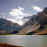 Bow lake and Bow peak and Crowfoot glacier - Banff national park