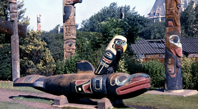 First peoples killer whale totem