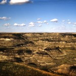 Horseshoe canyon in Alberta badlands