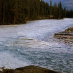 Joining of Amiskr and Kicking Horse rivers