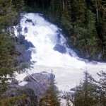 Joining of the Yoho and Kicking Horse rivers