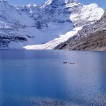 Lake McArthur and Mt Biddle with McArthur glacier - Yoho
