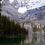 Lake o'hara with Mt Huber  and Mt Lafoy