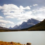 Lower waterfowl lake and Mt Chephren - Jasper national park