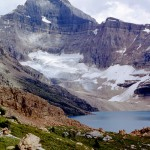 Mcarthur lake and glacier and Mount Biddle