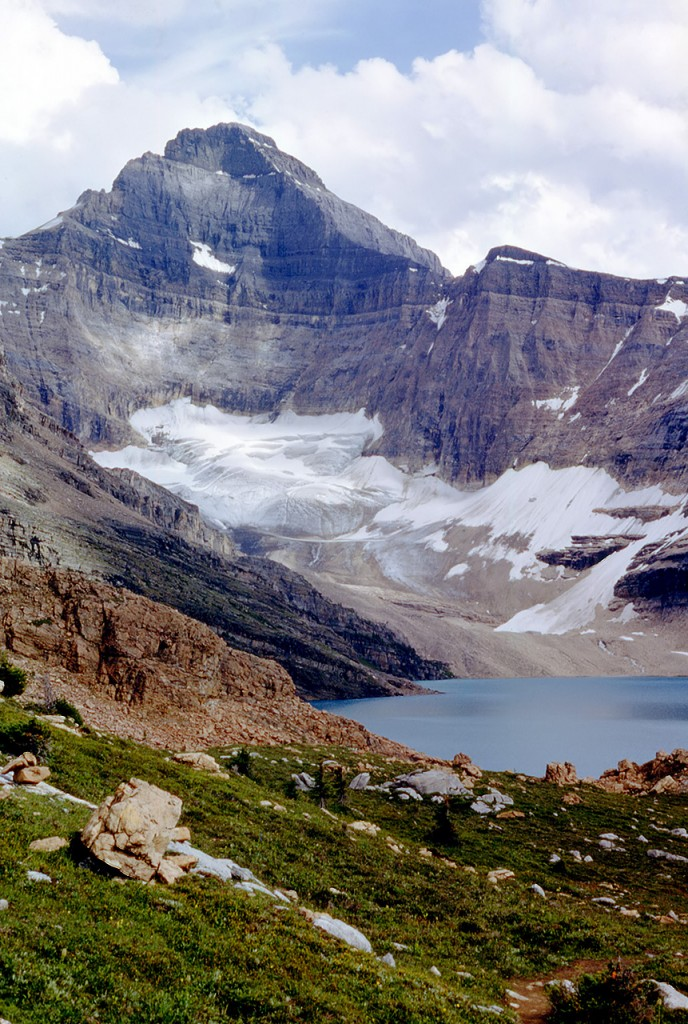 Mcarthur lake and glacier and Mount Biddle - dads pick