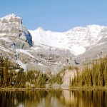 Mt Lefroy, Mt Yukness and O'Hara lake - Yoho