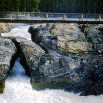 Natural bridge over the Kicking Horse River - Yoho national park
