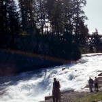Rainbow over Sproat falls