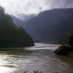 The muddy Fraser river