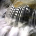 Cascade flowing water